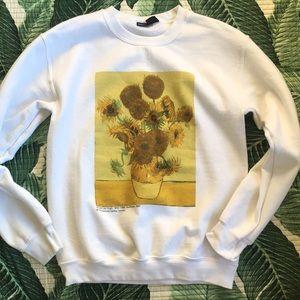 Oversized Urban Outfitters Sunflower Sweatshirt